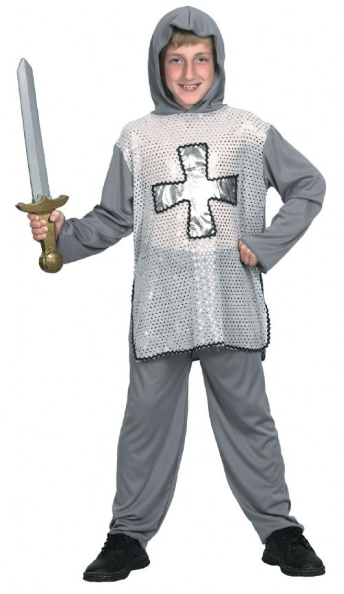 Boys Knight Costume Medieval Times Middle ages Jousting Fancy Dress Outfit